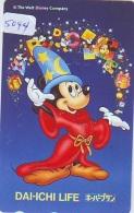 Télécarte Japon * 110-159998 * DISNEY * MICKEY (5044) Dai Ichi Life Insurance Japan Phonecard TELEFONKARTE - Disney