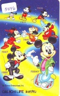 Télécarte Japon * 110-178804 * DISNEY * MICKEY (5046) Dai Ichi Life Insurance Japan Phonecard TELEFONKARTE - Disney