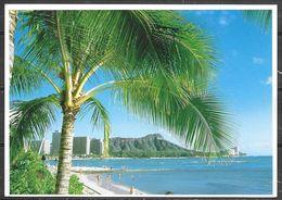 Hawaii, Diamond Head From Waikiki, Mailed - Honolulu