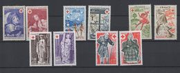 10 Timbres Croix Rouge Années 1971 / 1977  - Neufs - Unused Stamps