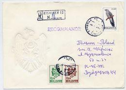 MOLDOVA 1992 Registered Cover With Michel 5, 7 And 17. - Moldova
