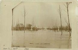 78-Villennes Sur Seine : Carte Photo 1910 Le Square Et Le Lion De Barys Inondés - Villennes-sur-Seine