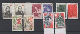 10 Timbres Croix Rouge Années 1964 / 1977  - Neufs - Unused Stamps