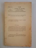 """1879 - Projet De Loi Ayant Pour Objet L""""amélioration De La Basse Loire, Entre Nantes Et La Mer - Decrees & Laws"""