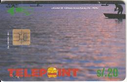"PERU - Yarinacocha Lake/Puccalpa(puzzle 3/4, Reverse ""Telecable""), Tirage 22000, Used - Peru"