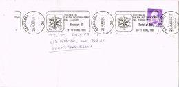 27174. Carta BARCELONA 1986. Rodillo Especial RODATUR, Salon Turismo 86 - 1931-Hoy: 2ª República - ... Juan Carlos I