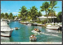 Florida, Ft. Lauderdale, Tropical Waterway, Mailed In 1973 - Fort Lauderdale