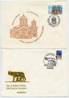 MOLDOVA 1992 St. Pantaleimon's Church And Roman Monument On FDCs.  Michel 20, 21 - Moldova