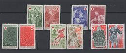 10 Timbres Croix Rouge Années 1970 / 1977  - Neufs - Unused Stamps