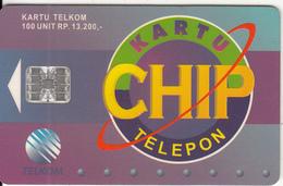 INDONESIA(chip) - Chip Kartu Telepon, Telkom Telecard 100 Units, Tirage 60000, 09/96, Used - Indonesia