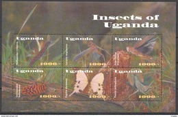T623 UGANDA FAUNA INSECTS OF UGANDA PAPILIO 1KB MNH - Insects