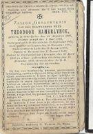 D17/ ° OOST EECLOO 1847 + EVERGEM 1903  E.H.THEODOOR HAMERFLYNCK PASTOR:ST PAUWELS CLUYSEN LEDE ENAME EVERGEM - Religion & Esotericism