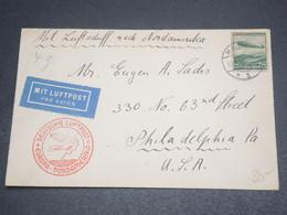 ALLEMAGNE - Enveloppe Par Avion En 1933 Pour Les Etats Unis , Voir Cachet Europa - Nordamérika -  L 12620 - Allemagne