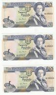 Jersey Banknote  (Pick 29a) Twenty Pound C Series, Code QC- Superb UNC Condition - Jersey