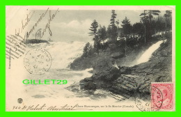 SHAWINIGAN FALLS, QUÉBEC - CHUTE SHAWINIGAN, SUR LE ST-MAURICE -  PINSONNEAULT, PHOTO - CIRCULÉE EN 1907 - Trois-Rivières
