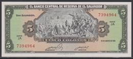 El Salvador 5 Colones 25.08.1983 UNC - El Salvador