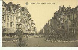 Louvain -- Avenue Des Alliés Vue Vers La Gare. (2 Scans) - Leuven