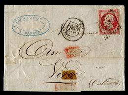 Lettre - Napoléon III Avec N° 17Al (carmin Foncé) - Bon Etat - Cote + De 150,00 € - 1853-1860 Napoléon III