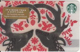 USA - Reindeers, Starbucks Card, CN : 6142, Unused - Gift Cards