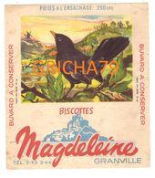 BUVARD  - BISCOTTES MAGDELEINE - N° 16 MERLE NOIR MALE GRANVILLE - Zwieback