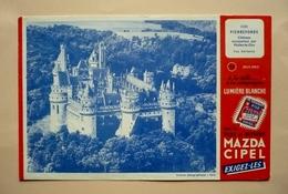 60 - PIERREFONDS - Buvard Offert Par Les Piles MAZDA - Accumulators