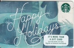 USA - Happy Holidays, Starbucks Card, CN : 6140, Unused - Gift Cards