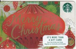 USA - Merry Christmas, Starbucks Card, CN : 6140, Unused - Gift Cards