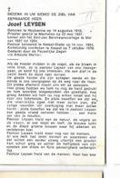 DP JJ/  ° HOUTVENNE 1913 + KESSEL 1970  E.H. JOZEF LEYSEN LKR TE MOL EN PASTOR KESSEL STATIE - Religion & Esotericism
