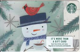 USA - Snowman & Bird, Starbucks Card, CN : 6140, Unused - Gift Cards