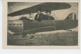 AVIATION - Belle Carte Photo Montage Femmes Et Enfant Dans Avion Datée 1937 - 1919-1938: Entre Guerras