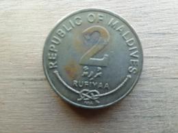 Maldives  2 Rufiyaa  1995  Km 88 - Maldives