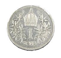 1 Koutone - Autriche - 1912 - Argent - TB+ - - Austria