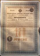 Deux Obligations Gouvernement Impérial De Russie - Banque Impériale Foncière De La Noblesse - Lettre De Gage 3.5% - 1897 - Actions & Titres