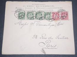NORVÈGE - Enveloppe Commerciale De Christiania Pour Paris En 1902 -  L 12637 - Briefe U. Dokumente