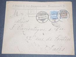 DANEMARK - Enveloppe Commerciale En Recommandé De Copenhague Pour Paris En 1899 -  L 12638 - 1864-04 (Christian IX)