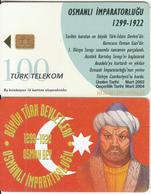 TURKEY(chip) - Osmanli Empire 1299-1922 AD Founder OSMAN BEY, Turk Telecom Telecard 100 Units, Chip CHT17, 03/02, Used - Turquie