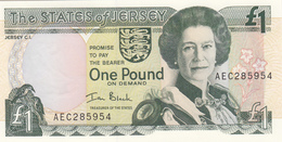 Jersey Banknote  (Pick 26b) One Pound C Series, Code AEC - Superb UNC Condition - Jersey
