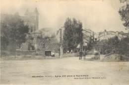 VILLEREAL - Eglise Et Rue St Rock - Other Municipalities