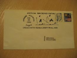 HAYWARD 1990 Crosscountry Country Ski Skiing Cancel Cover USA - Ski