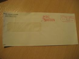 SALEM 1971 Ski Oregon Skiing Meter Mail Cancel Cover USA - Ski
