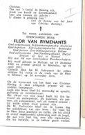 DP LL/ °HALLAAR 1901 + MORTSEL 1976  E.H.FLOR VAN RYMENANTS  PASTOR TE MECHELEN BONHEIDEN RILLAAR DUFFEL - Religion & Esotericism