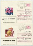 RUSSIA 1993 1.50 R. Stationery. Envelopes, Two Types Cancelled. - 1992-.... Federation