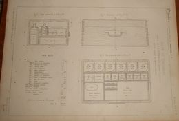 Plan D'une Boîte De Pansements Pour Le Service Des Ateliers Et Chantiers. 1859 - Public Works
