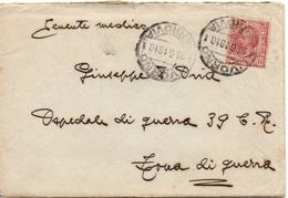 LIVORNO Per ZONA DI GUERRA - 23.6.1918 - Busta CON CONTENUTO Tariffa RIDOTTA MILITARI 10c. Leoni 9/147 - 1900-44 Vittorio Emanuele III