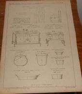Plan Du Matériel D'une Cantine D'ouvriers Installée Au Camp De Chalons. 1859 - Public Works