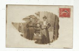 Carte Photo , Enfant , Femmes , Homme , Voyagée - Gruppen Von Kindern Und Familien