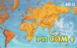 CARTEà PREPAYEE-PTI-7,5€-60U-31/12/2005-V° 10 N° Lasers Sur Fond Noir- T BE-RARE - France
