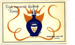 AN 271 /  CARTE  PUB  TRIPLE ESSENCE DE LAVANDE  PHARMACIE VAN LIER NAMUR - Labels