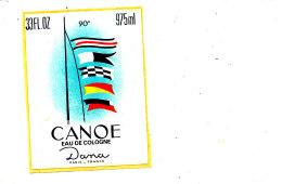 AN 272 / 2  ETIQUETTES CANOE EAU DE COLOGNE - Labels