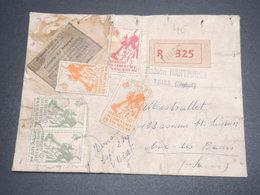 SÉNÉGAL - Étiquette De Colis En Recommandé De Thiers Pour Aix Les Bains  -  L 12650 - Sénégal (1887-1944)